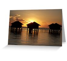 Sunset in the South Pacific Greeting Card