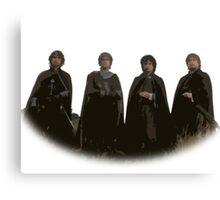 Hobbits Lord of the Rings Cutout Print Design Canvas Print