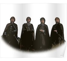 Hobbits Lord of the Rings Cutout Print Design Poster