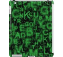 Alphabet Green iPad Case/Skin