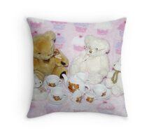 TeddyBears Tea Party Throw Pillow