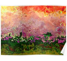 Meadow Morning abstract Poster