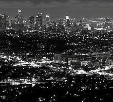 L..A view at night by Varujhan  Chapanian