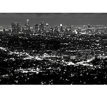 L..A view at night Photographic Print
