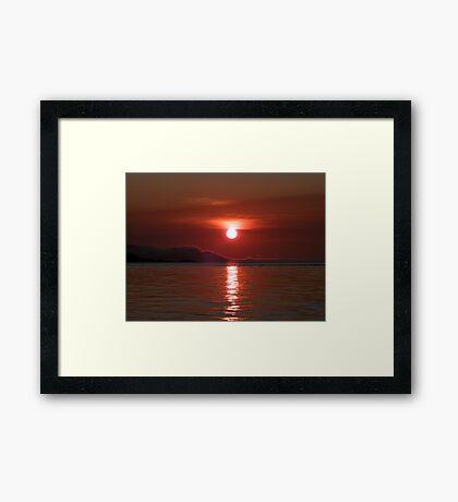 Red Sky In The Morning Framed Print