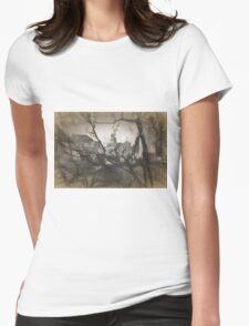 Cherry blossom impression Womens Fitted T-Shirt