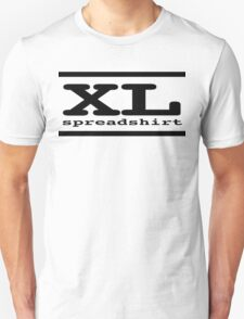 XL Spreadshirt - Black Lettering T-Shirt
