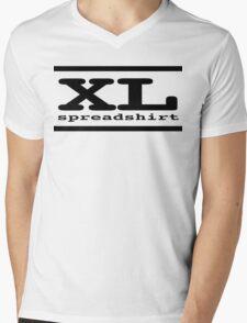 XL Spreadshirt - Black Lettering Mens V-Neck T-Shirt