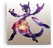 Mewtwo Galaxy Canvas Print