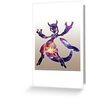 Mewtwo Galaxy Greeting Card