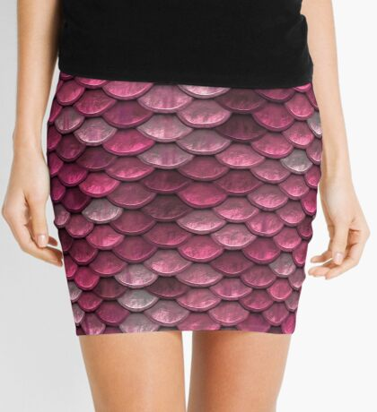 Pink Scale Mini Skirt