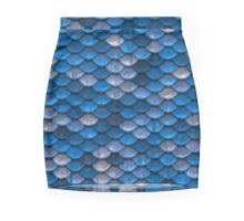 Blue Scale Mini Skirt