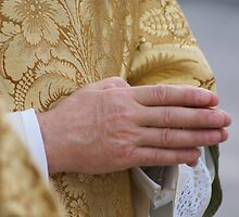 Priest's Hands Praying by gfairbairn