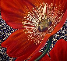 Red Velvet Poppies by Cherie Roe Dirksen