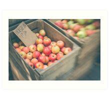 Market Day Apples Art Print