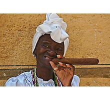 Cuban lady in Havana Photographic Print