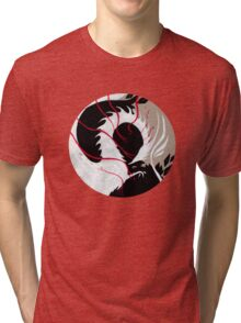 WHITE DRAGON RIBBONS Tri-blend T-Shirt
