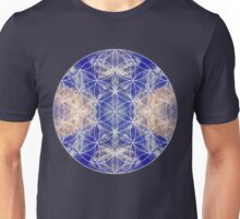 Flower of Life Blue Unisex T-Shirt
