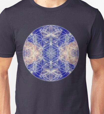Flower of Life Blue Unisex T-Shirt