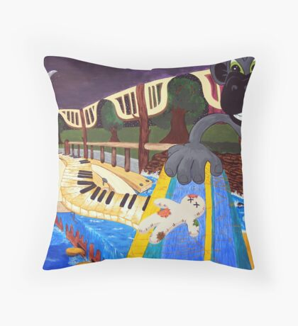Monkey Voodoo Throw Pillow