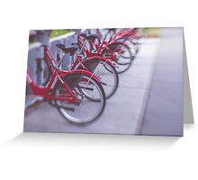 Red Rides Greeting Card
