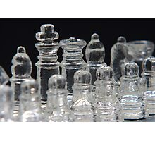 Chess King and Queen Photographic Print