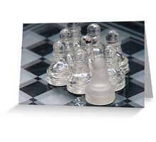 Chess Following Greeting Card