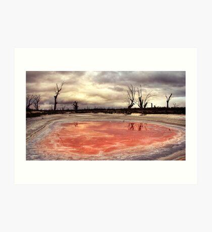 Salt stains. Art Print