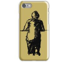 lonely man at the bar iPhone Case/Skin