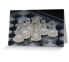 Chess Attraction Greeting Card