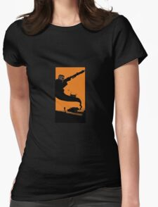 Mad Road - silhouette Womens Fitted T-Shirt