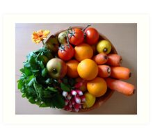 Organic basket Art Print