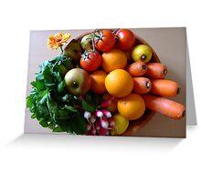 Organic basket Greeting Card