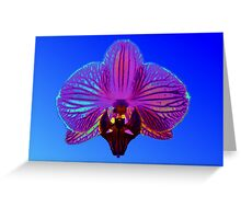 psychedelic exotic orchid Greeting Card