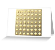 Stars retro light gold background Greeting Card