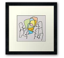 a little less conversation Framed Print