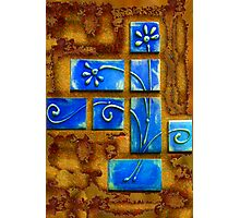 Blue Wafers Photographic Print