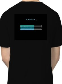 blue Loading Bars with shine sparkling Classic T-Shirt