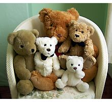 A Family of Teddy Bears Photographic Print