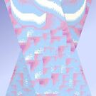 Blue & Pink Cross by KazM