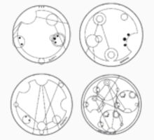 Sticker set: allons-y, fantastic, geronimo, and wibbly wobbly timey wimey  by fill14sketchboo