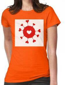 Happy Valentine's day hearts Womens Fitted T-Shirt