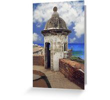 "Puerto Rico,"" El Moro"" Atlantic view Greeting Card"