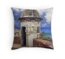 "Puerto Rico,"" El Moro"" Atlantic view Throw Pillow"