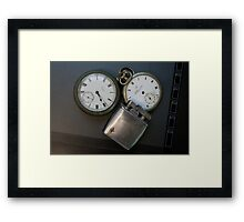 Old Watches and Lighter Framed Print