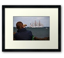 Saying Goodbye For Now Framed Print