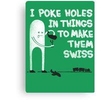 Swiss Happens! Canvas Print