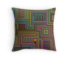 tribal abstract background Throw Pillow
