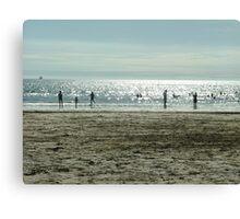 Beach at dusk Canvas Print