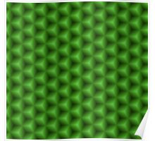 Green seamless geometric texture Poster